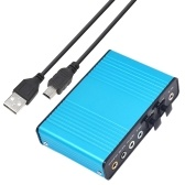 USB 6 Channel 5.1 / 7.1 Surround External Sound Card PC Laptop Desktop Tablet Audio Optical Adapter Card