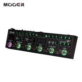 MOOER BLACK TRUCK 6-in-1 Combined Guitar Effects Pedal Compressor + Overdrive + Distortion + EQ + Modulation + Delay/Reverb Built-in Tuner Tap Tempo with Carry Case