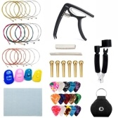 Guitar Accessories Set Bridge Pins Saddle Capo Nylon Strings Guitar Picks for Beginners