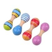 Wooden Maracas for Kids Cute Colorful Musical Instrument Toys