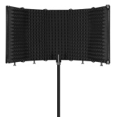 Foldable Adjustable Sound Absorbing Vocal Recording Panel