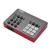 TAKSTAR SC-M1ポータブルライブブロードキャストサウンドカード、DSP付き