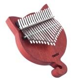 TREELF TF-17CAT Piano de pulgar de madera maciza Kalimba de 17 teclas