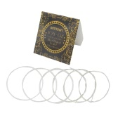 ammoon AGS-02 Classical Guitar Strings Transparent Nylon Silver-Plated Copper Normal Tension 6-Pack (.028-.045)