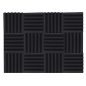 12パックスタジオアコースティックフォームスポンジパネルタイル吸音防音フォームトライアングル難燃性高密度30 * 30cm / 12 * 12in