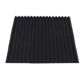 12 Pack Studio Acoustic Foams Sponge Panels Tiles Absorption Sound Insulation Foam Rhombus Flame-retardant High Density 30 * 30cm/ 12 * 12in