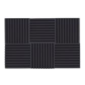 6 Paczki Akustyczne Pianki Gąbkowe Płytki Absorpcja Izolacja dźwięków Trójkąt Pianka Płomień Ognioodporna 50 * 50cm / 20 * 20in