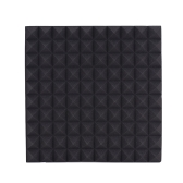 6 Pack Studio Acoustic Foams Sponge Panels Tiles Absorption Sound Insulation Rhombus Foam Flame-retardant High Density 50 * 50cm/ 20 * 20in
