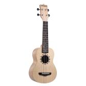 ammoon Soprano Ukelele 21 pollici Platanus Body Tastiera in palissandro Hawaiian chitarra Ukulele Set con tracolla Tuner Borsa Extra in nylon String Picks Panno di pulizia