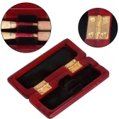 Solid Wood Oboe Reed Case Wooden Holder Box Maple Wood for 2pcs Oboe Reeds