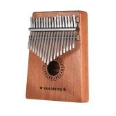 Przenośny 17-key Kalimba Thumb Piano Mbira Sanza Mahogany Wood with Carry Bag Naklejki Tuning Hammer Cleaning Cloth Finger Stall Musical Gift