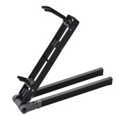 Portable Foldable Alto Saxophone Metal Floor Stand Holder Support with Carry Bag