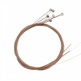 Acoustic Folk Guitar Strings Stainless Steel Wire Core Copper Alloy Wound, 6pcs/ Pack (.010-.047)