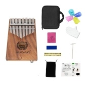 Portachiavi portatile Kalimba a 17 tasti Mbira Hawaiian Koa Wood Pick-up EQ integrato con altoparlante da 6.35 mm
