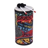 8 Inch Conga Konga Drum Hand Drum Floor Drum Attractive Fabric Art Surface with Shoulder Strap Percussion Instrument for Gathering Street Performance Rhythm Practice