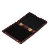 Wooden Reed Case with Inner Soft Cloth Instrument Accessories Container Reeds Holder Storage Box for 5pcs Saxophone Reeds Redwood