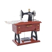 Treadle Type Sewing Machine Music Box Antique Gift Musical Educational Toys Home Decor Fashionable Accessories