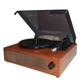 Gramófono portátil tocadiscos de vinilo tocadiscos clásico clásico con altavoces estéreo incorporados