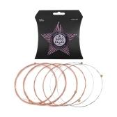 Cordas de guitarra AC10 para guitarras folk acústicas 6pcs conjunto de cordas revestimento anti-oxidação revestimento protetor de fósforo enrolamento de bronze luz extra