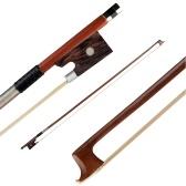 NAOMI VB0908-026 Violin Bow Rosewood Bowstick Ebony Frog Sheep Leather Wrap