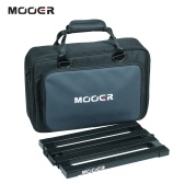 MOOER PB-10 Portable Guitar Effect Pedal Board Pedalboard Aluminum Alloy 180° Folding Design with Padded Carry Bag