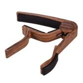 Wood Grain Metal Capo for Folk Guitar Tuning Musical Instrument Accessories