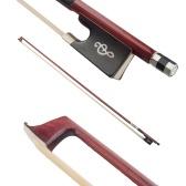 4/4 violon violon archet IPE bois rond bâton ébène grenouille blanc crin de cheval bien équilibré