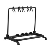 Foldable Multi Guitar Stand 5 Holders for Guitar Display Storage