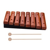 Музыкальный инструмент 8 нот деревянный ксилофон включает 2 деревянных молотка