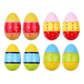 8pcs Wooden Egg Shakers Maracas