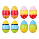 Agitatori per uova in legno 8 pezzi Maracas
