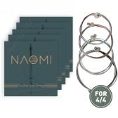 Naomi contrabaixo cordas peças de substituição de aço conjunto de cordas
