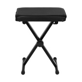 X-Style Electronic Piano Stool Electronic Piano Guitar Drum Stool Adjustable Folded Black Piano Bench
