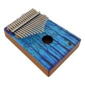 Piano de pulgar Kalimba de madera portátil de 17 teclas Mbira