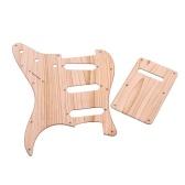 Piastra antigraffio per chitarra elettrica SSS ST colore legno di acero