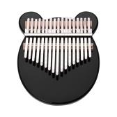 Muslady - Piano de pulgar de 17 teclas, negro, acrílico, Kalimba Mbira, instrumento musical