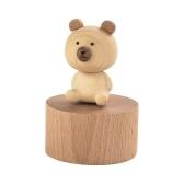 Ammoon Caja de música de madera con bonita figura para decoración del hogar, manualidades, regalo musical para cumpleaños, Navidad, San Valentín