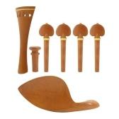 Muslady 4/4 Набор аксессуаров для скрипки из дерева мармелад с хвостовиком