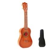 21 pouces enfants imitation bois ukulélé 4 cordes instrument de guitare portable