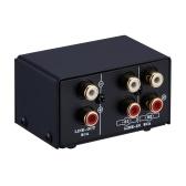LINEPAUDIO Audio Switcher RCA 2 em 1 Out / 1 in 2 Out A / B Switch Stereo Splitter Box sem distorção Jack RCA para alternar entre alto-falantes de computador e fones de ouvido