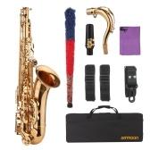ammoon Saxophone Sib Si bémol Saxophone ténor Saxophone plaqué or