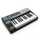 WORLDE PANDA25コンパクト25キーUSB MIDIキーボードコントローラー8 RGBカラフルなバックライト付きトリガーパッド(USBケーブル付き)