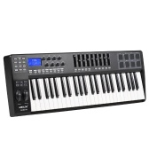 WORLDE PANDA49 Portable 49-Key USB MIDI Keyboard Controller 8 RGB Colorful Backlit Trigger Pads with USB Cable