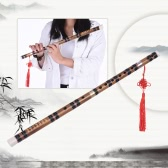 Pluggable Handmade Bitter Bamboo Flute/Dizi Traditional Chinese Musical Woodwind Instrument in E Key for Beginner Study Level