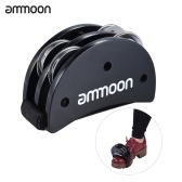 ammoon Elliptical Cajon Box Drum Companion Accessory Foot Jingle Tambourine for Hand Percussion Instruments Burlywood