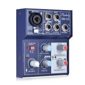 Muslady SM-33 Mini tarjeta de sonido de 3 canales Mezclador de consola Mezclador de audio digital