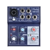 Muslady SM-33 Mini 3-Channel Sound Card Mixing Console Digital Audio Mixer