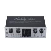 Muslady 422A Interfaccia audio USB a 4 canali Interfaccia audio esterna + alimentazione phantom 48V Alimentatore DC 5V per computer Smartphone con cavo USB