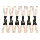 Ammoon 12 par 5A Drewniane podudzia Bębny Bębny Fraxinus Mandshurica Zestaw perkusyjny z drewna