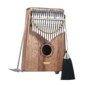 17-klawiszowy fortepian Kalimba Thumb Mbira Sanza Swartizia Spp Muzyczny prezent z litego drewna